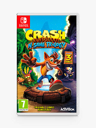 Buy Crash Bandicoot N. Sane Trilogy, Switch Online at johnlewis.com