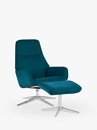 Design Project by John Lewis No.122 Chair with Footstool, Petrol
