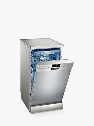 Siemens Sr256i00te Freestanding Slimline Dishwasher Silver