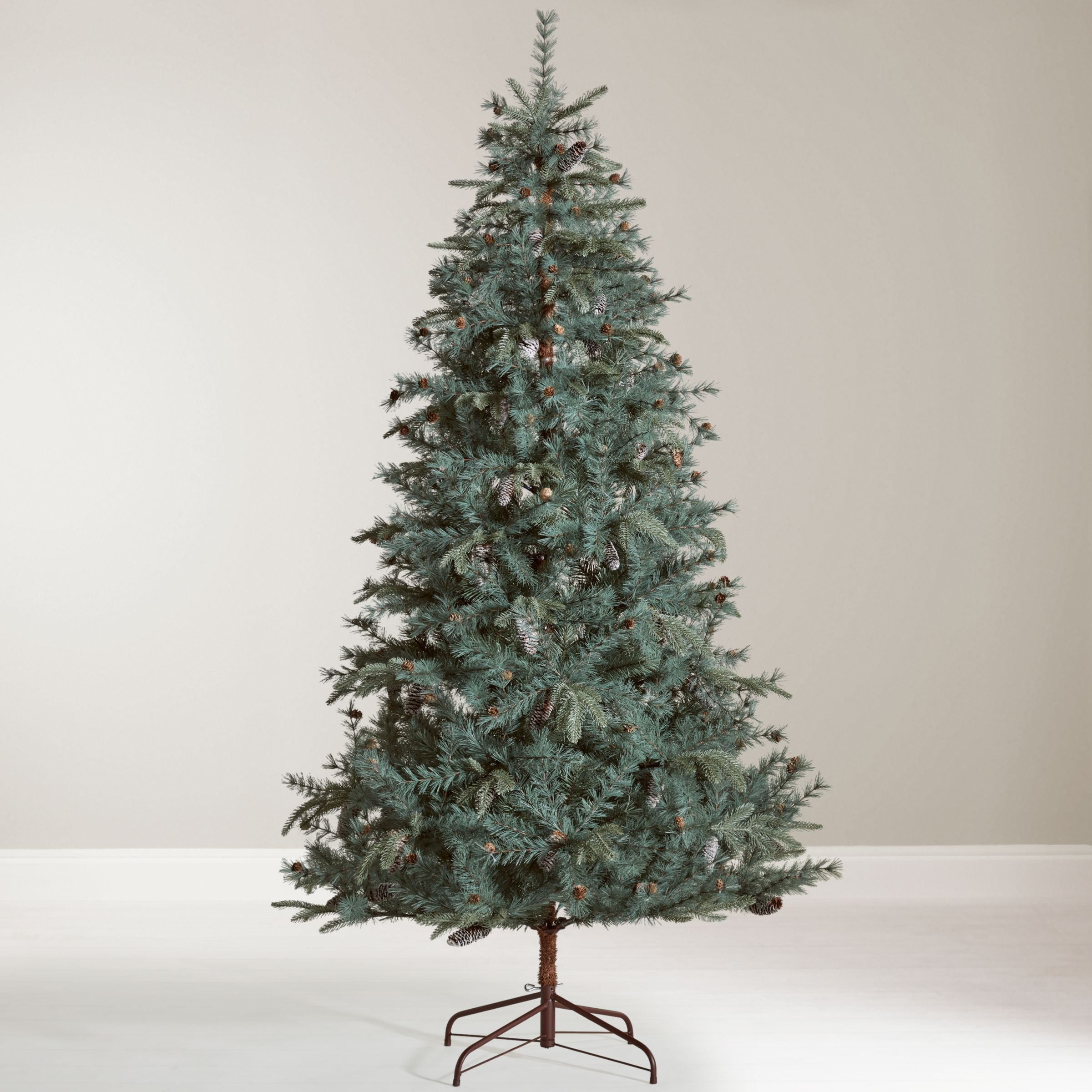 john lewis partners amber highland pine unlit christmas tree 7ft 320 led lights pure white 239m copper wire