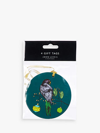 Buy John Lewis & Partners Emerald Bauble Toucan Gift Tags, Set of 4 Online at johnlewis.com