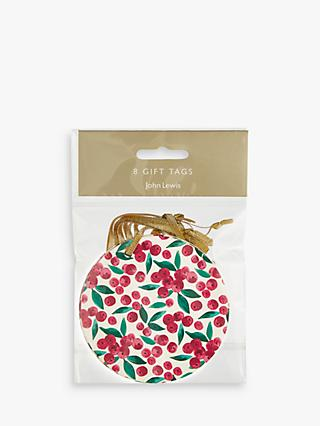 John Lewis & Partners Rainbow Ditsy Berry Gift Tags, Pack of 8