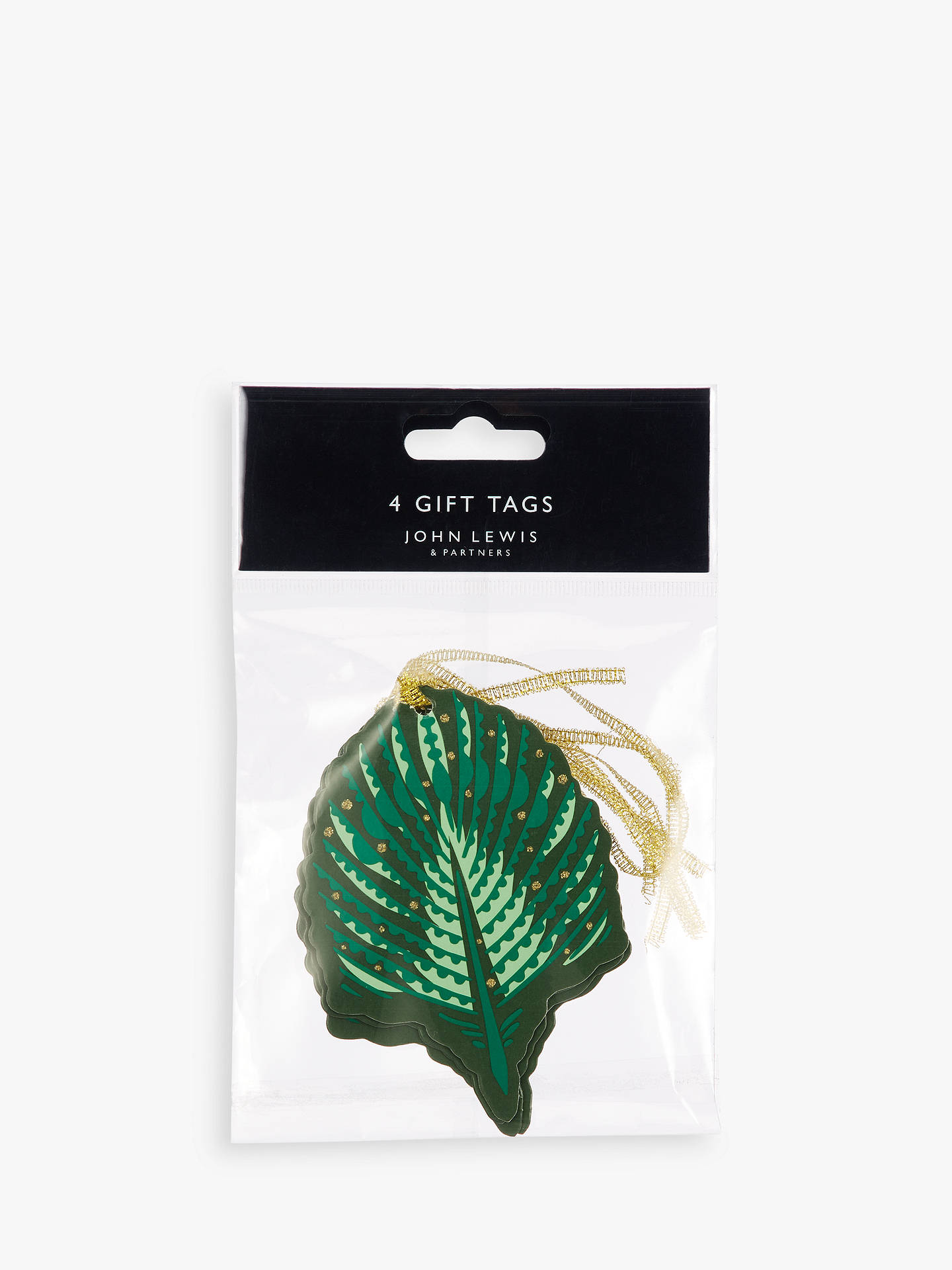 BuyJohn Lewis & Partners Emerald Palm Gift Tags, Pack of 4 Online at johnlewis.com