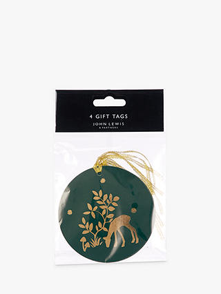 Buy John Lewis & Partners Emerald Forest Silhouette Gift Tags, Pack of 4 Online at johnlewis.com