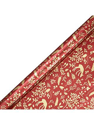 John Lewis & Partners Amber Forest Silhouette Gift Wrap, 3m