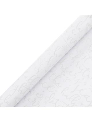 John Lewis & Partners Moonstone Merry & Bright Gift Wrap, 3m
