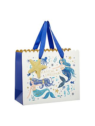 John Lewis & Partners Sapphire Magical Mermaid Landscape Gift Bag, Small