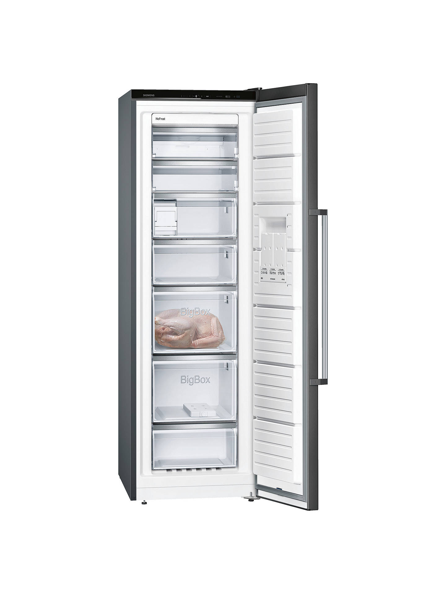 Buy Siemens GS36NAX3V Tall Freezer, A++ Energy Rating, 60cm Wide, Black Online at johnlewis.com