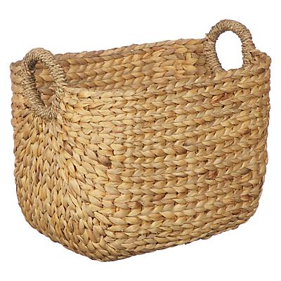 John Lewis & Partners Country Water Hyacinth Storage Basket