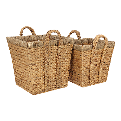 John Lewis & Partners Country Water Hyacinth Storage Baskets, Set of 2