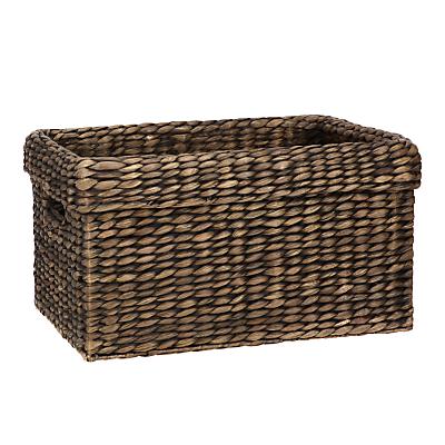 John Lewis & Partners Fusion Dark Water Hyacinth Rectangular Basket