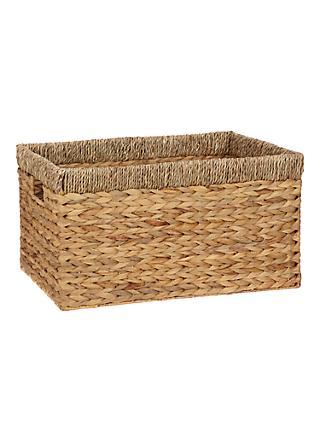 John Lewis U0026 Partners Country Water Hyacinth Storage Basket, Rectangular