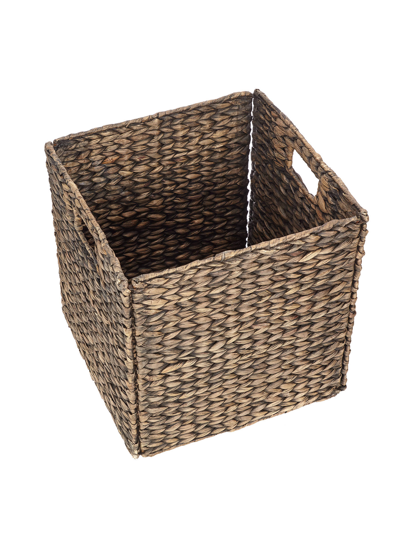 Buy John Lewis & Partners Fusion Dark Water Hyacinth Folding Basket Online at johnlewis.com