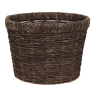 John Lewis & Partners Fusion Dark Water Hyacinth Storage Basket