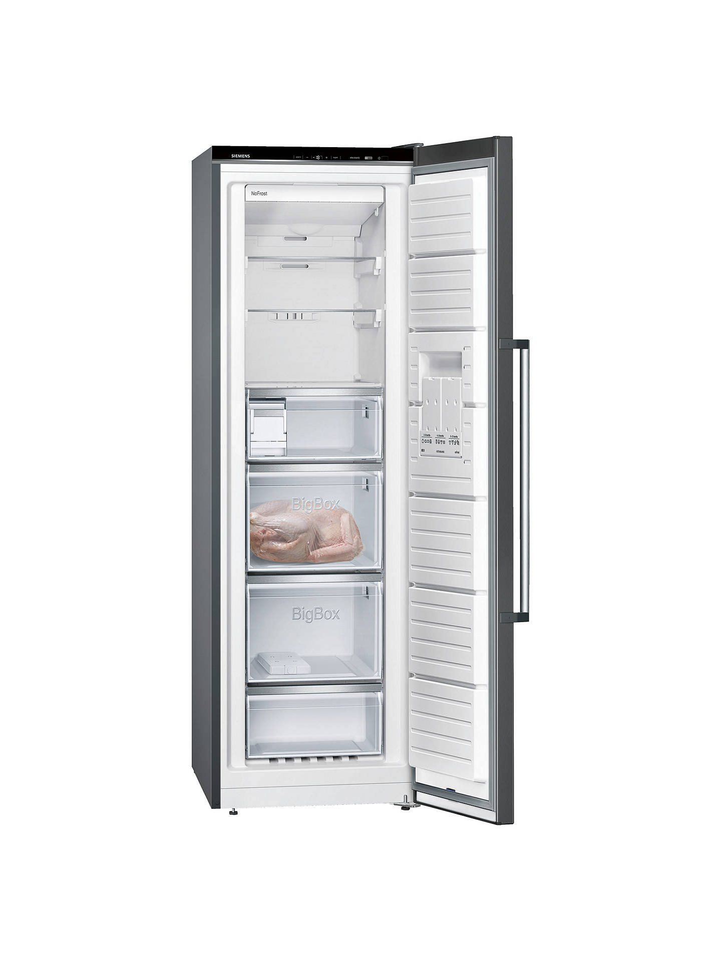 BuySiemens GS36NAX3P Tall Freezer, A++ Energy Rating, 60cm Wide, Black Online at johnlewis.com