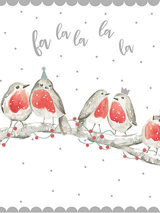 Buy Art File Fa La La Robin Cello Christmas Cards, Pack of 6 Online at johnlewis.com