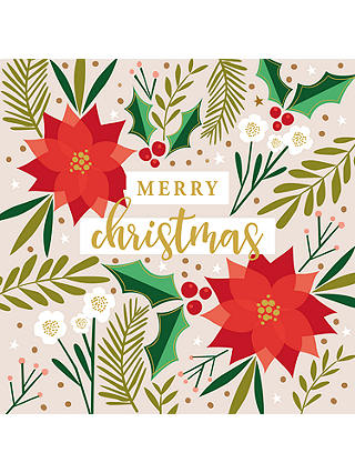Buy Art File Poinsettia Gold Merry Christmas Cello Christmas Cards, Pack of 6 Online at johnlewis.com