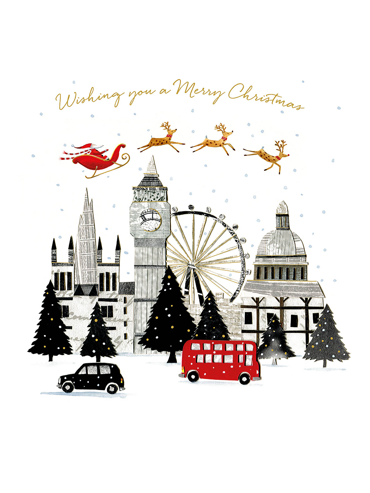 BuyArt File Merry Christmas London Cello Christmas Cards, Pack of 6 Online at johnlewis.com