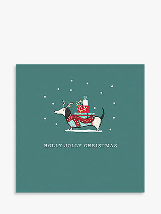 Buy Art File Jolly Christmas Dog Cello Christmas Cards, Pack of 6 Online at johnlewis.com