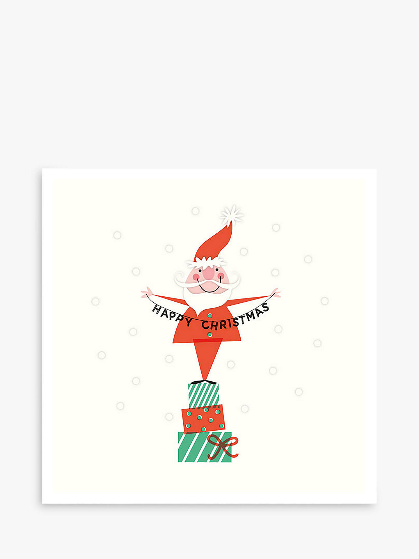 BuyArt File Santa on Presents Cello Christmas Cards, Pack of 6 Online at johnlewis.com