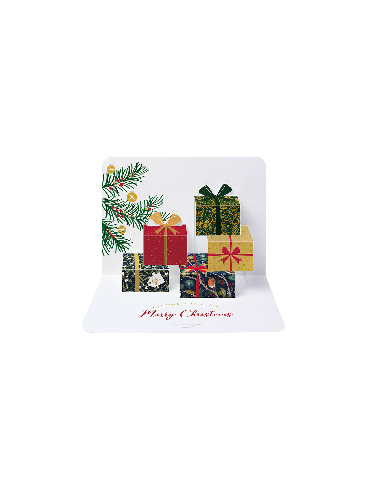 Buy Art File Metallic Parcels Christmas Cards, Pack of 5 Online at johnlewis.com