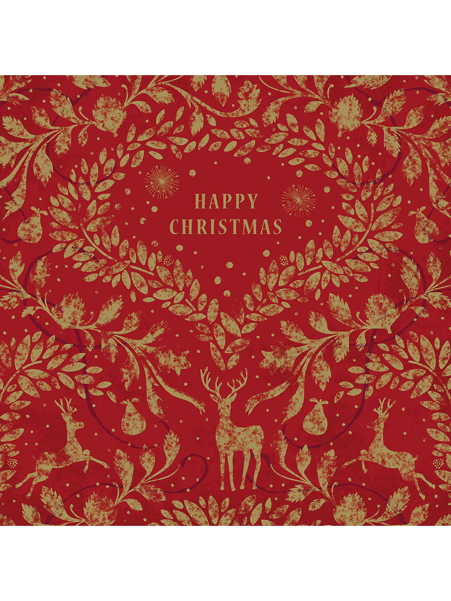 Buy Art File Red & Gold Foil Cello Christmas Cards, Pack of 6 Online at johnlewis.com
