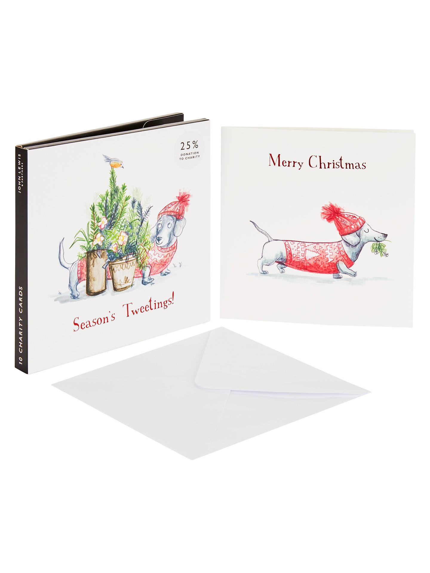 Buyjohn Lewis Partners Sausage Dog Christmas Card Pack Of  Online At Johnlewis