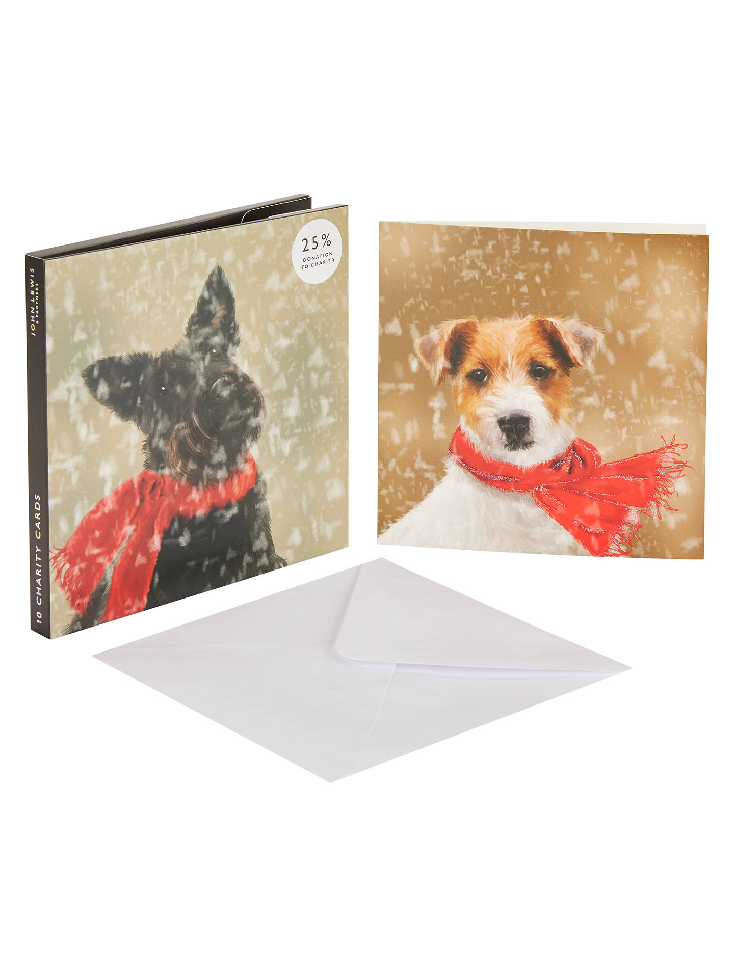 John Lewis & Partners Scottie and Jack Russel Christmas Card, Pack ...