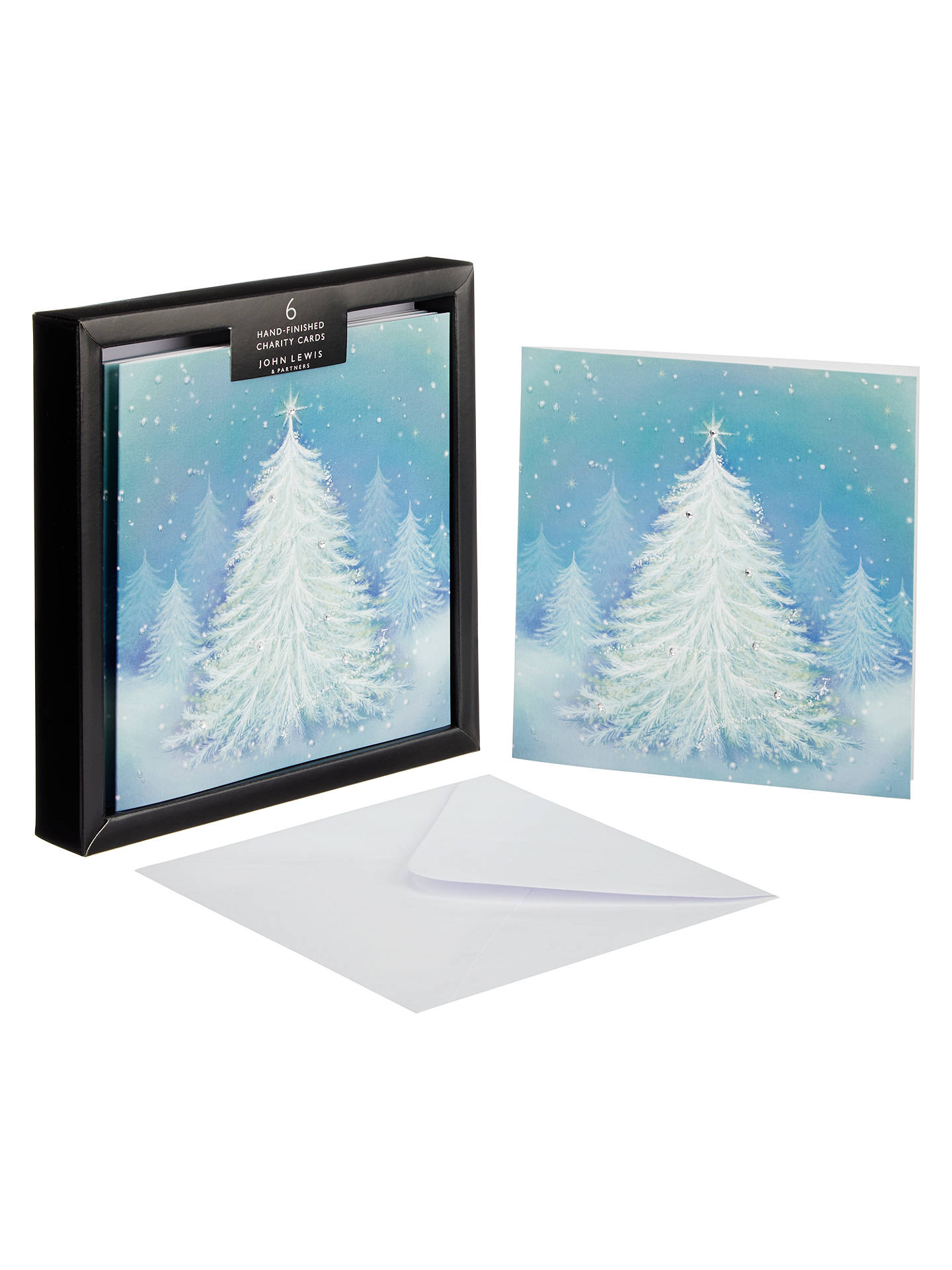 john lewis partners magical tree premium christmas card pack of 6