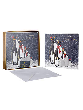 Buy Sara Miller Penguins Luxury Christmas Cards, Pack of 8 Online at johnlewis.com