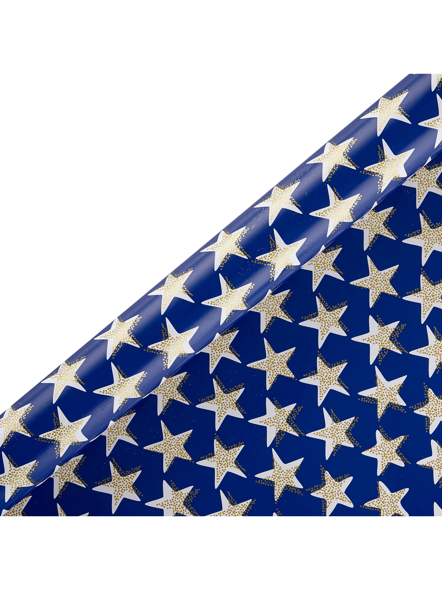 Buy John Lewis & Partners Sapphire Star Fish Gift Wrap, 3m Online at johnlewis.com