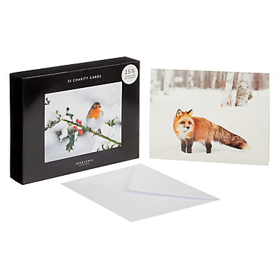 Image of John Lewis & Partners Wildlife Bumper Christmas Card, Pack of 25