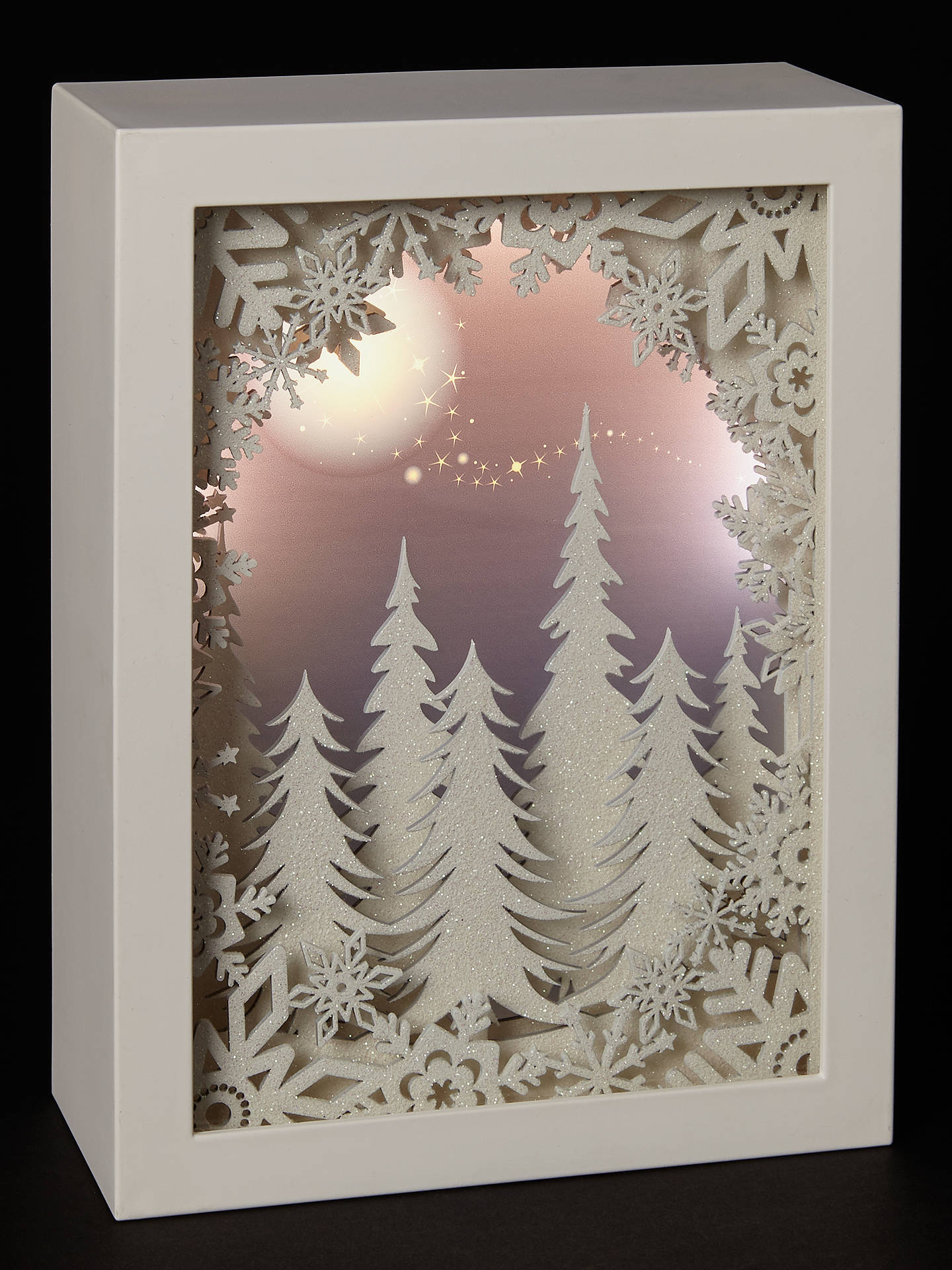 BuyJohn Lewis & Partners Forest Scene LED Light Box, White Online at johnlewis.com