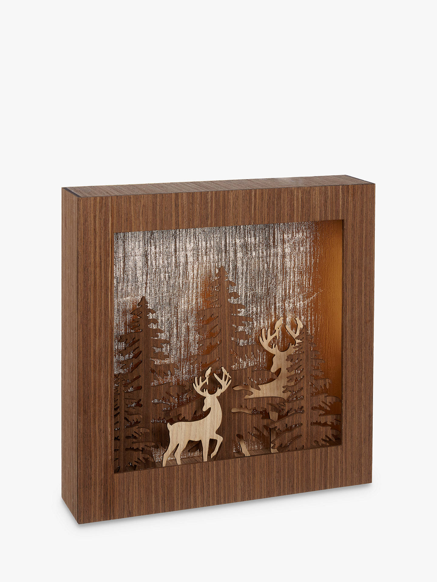 BuyJohn Lewis & Partners Forest Scene LED Light Box, Copper Online at johnlewis.com