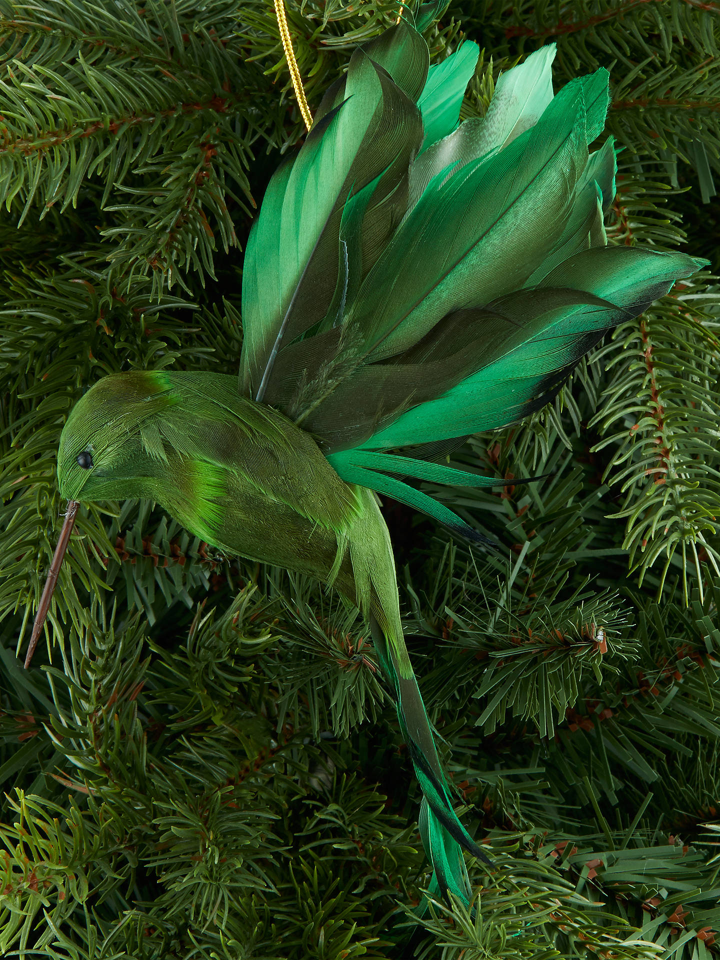 Buy John Lewis & Partners Emerald Hummingbird Tree Decoration, Green Online at johnlewis.com