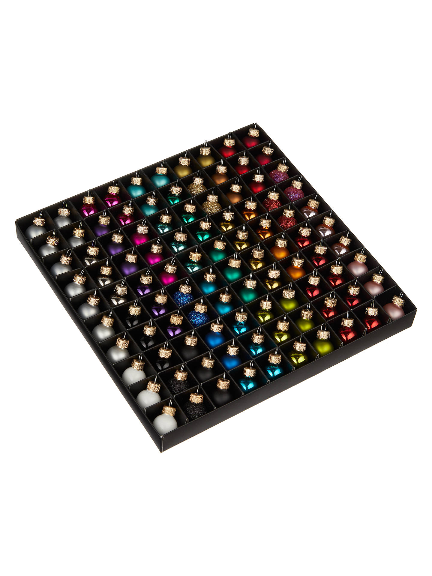 BuyJohn Lewis & Partners Rainbow Mini Glass Baubles, Box of 100, Multi Online at johnlewis.com