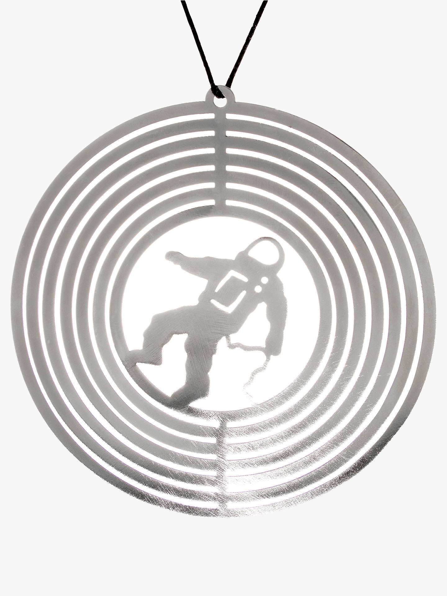 Buy John Lewis & Partners Jet Spaceman Ring Tree Decoration, silver Online at johnlewis.com