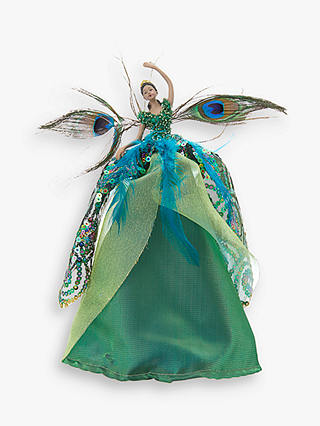 Buy John Lewis & Partners Emerald Peacock Fairy Tree Topper, Green Online at johnlewis.com