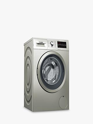 Bosch WAT2840SGB Freestanding Washing Machine, 9kg Load, A+++ Energy Rating, 1400rpm Spin Speed, Silver