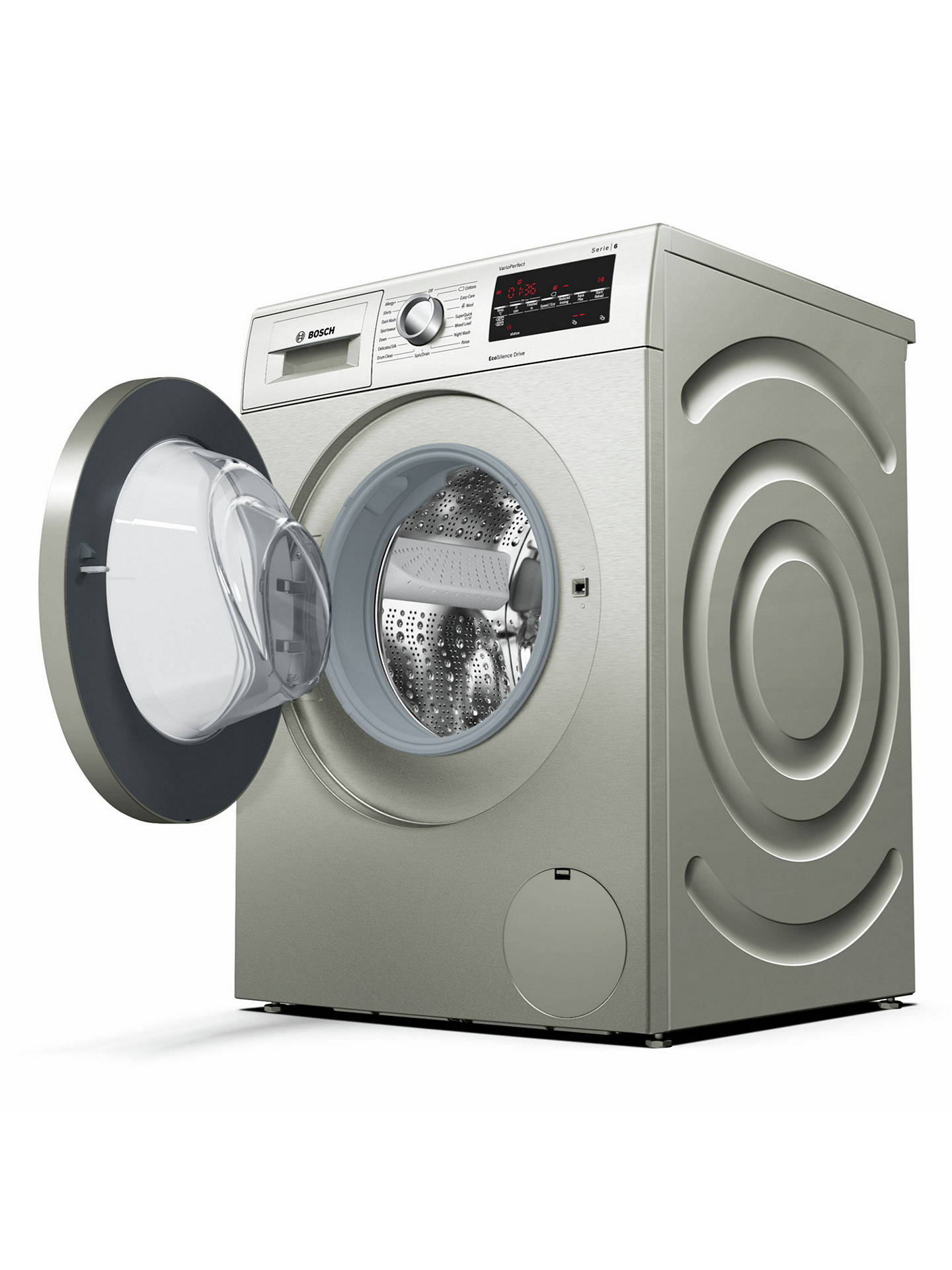 BuyBosch WAT2840SGB Freestanding Washing Machine, 9kg Load, A+++ Energy Rating, 1400rpm Spin Speed, Silver Online at johnlewis.com