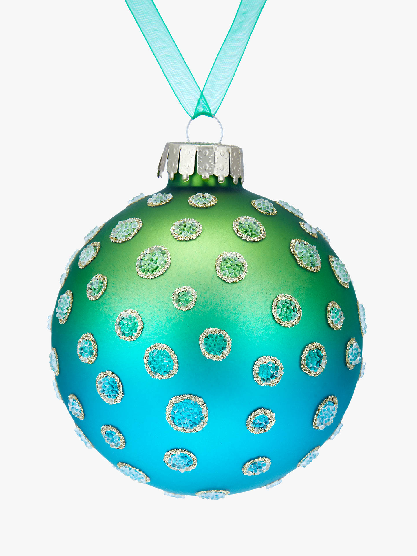 BuyJohn Lewis & Partners Emerald Ombre Polka Dot Bauble, Green Online at johnlewis.com