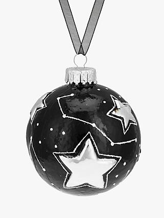 John Lewis & Partners Jet Star Constellation Bauble, Black