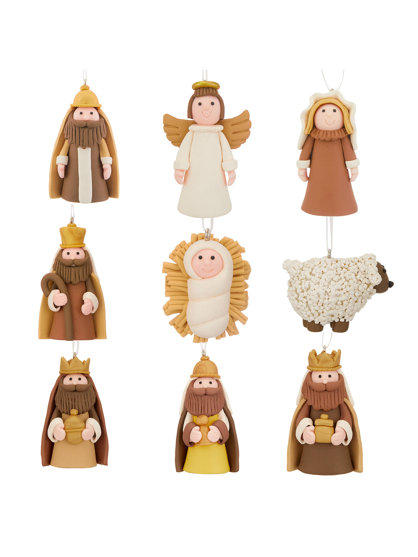 BuyJohn Lewis & Partners Claydough Nativity Tree Decorations, Set of 10 Online at johnlewis.com
