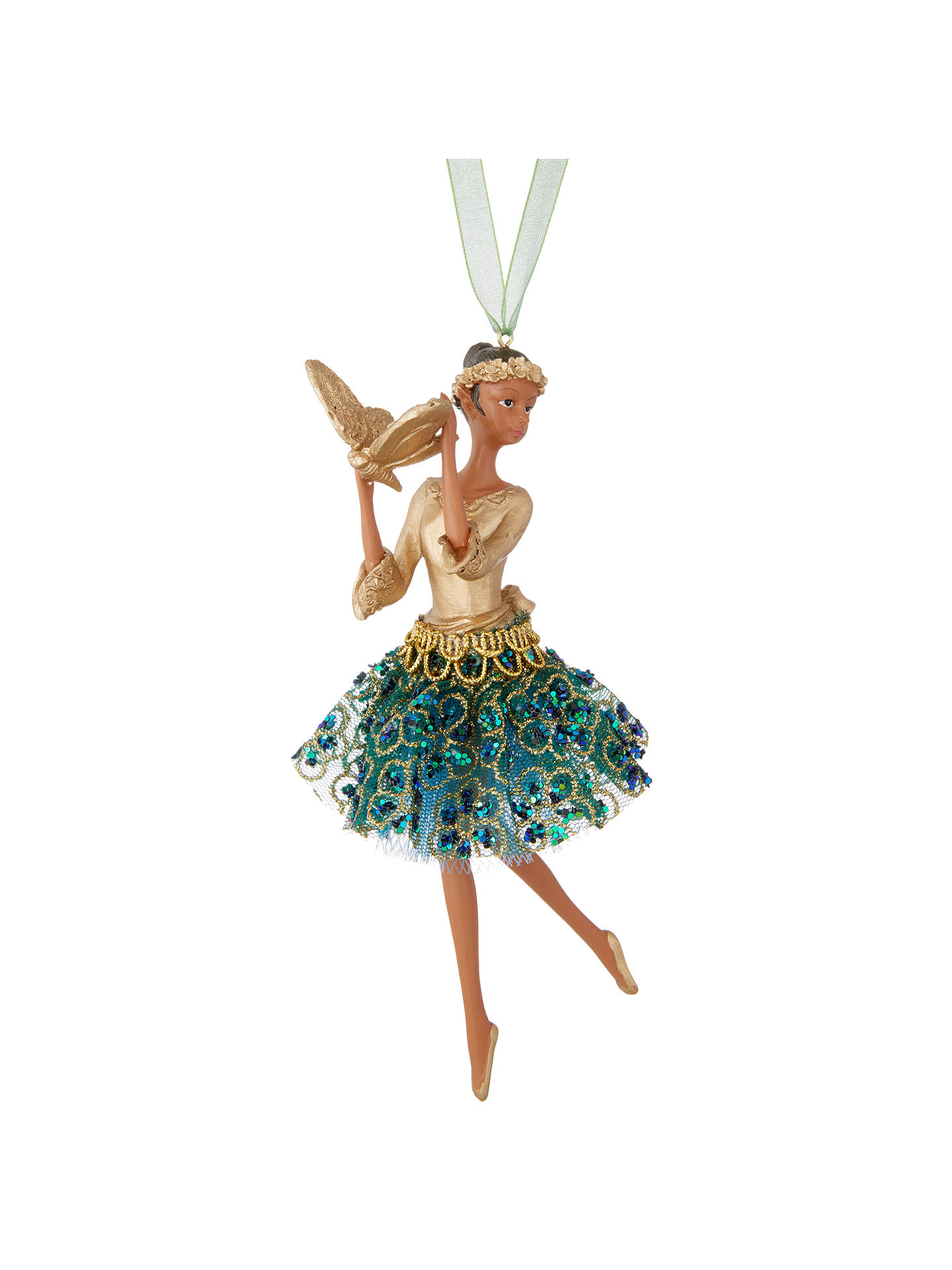 Buy John Lewis & Partners Emerald Ballerina Tree Decoration, Green Online at johnlewis.com