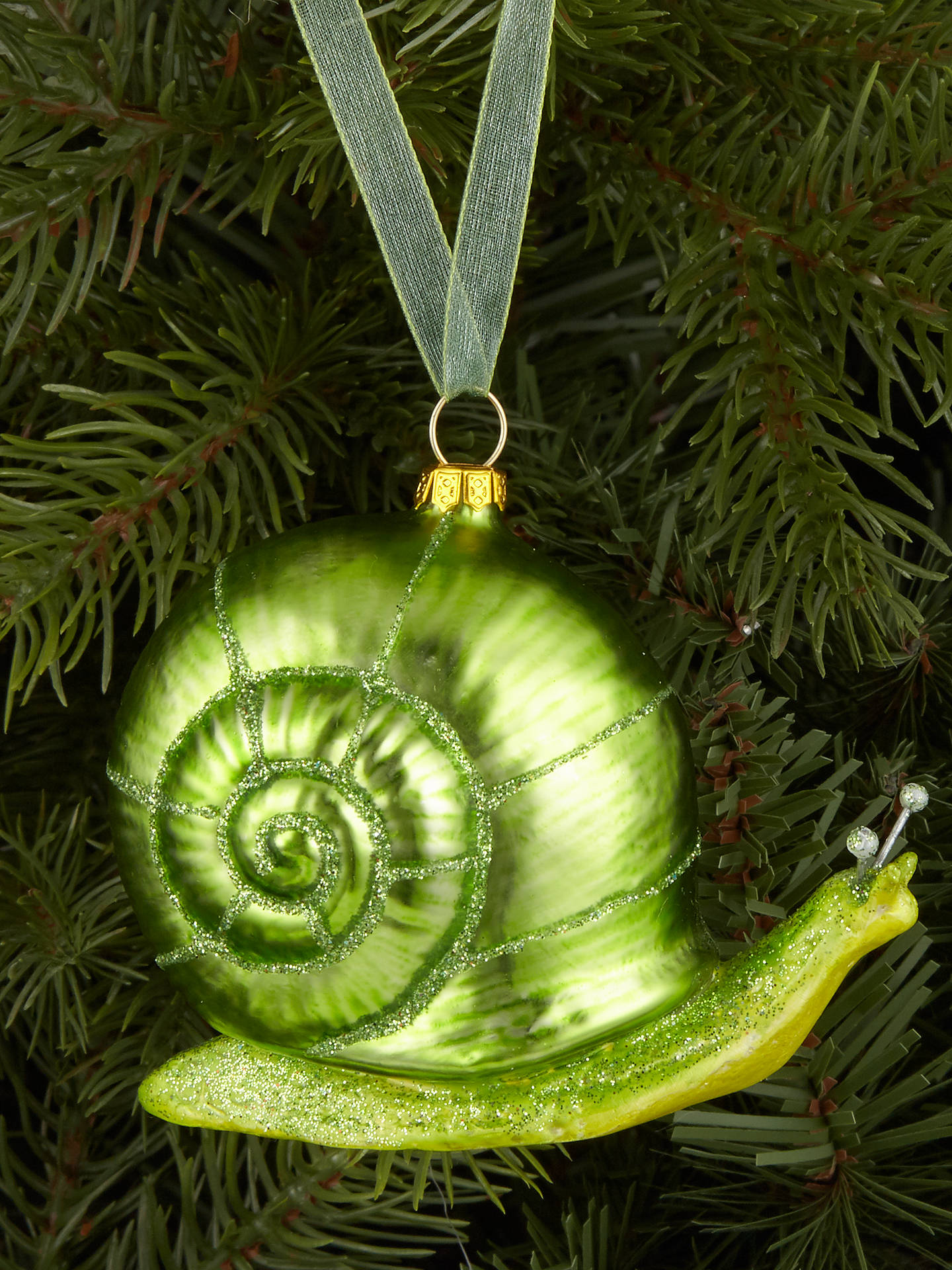 Buy John Lewis & Partners Emerald Snail Bauble, Green Online at johnlewis.com
