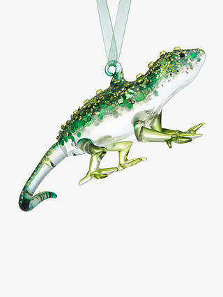 Buy John Lewis & Partners Emerald Lizard Bauble, Green Online at johnlewis.com