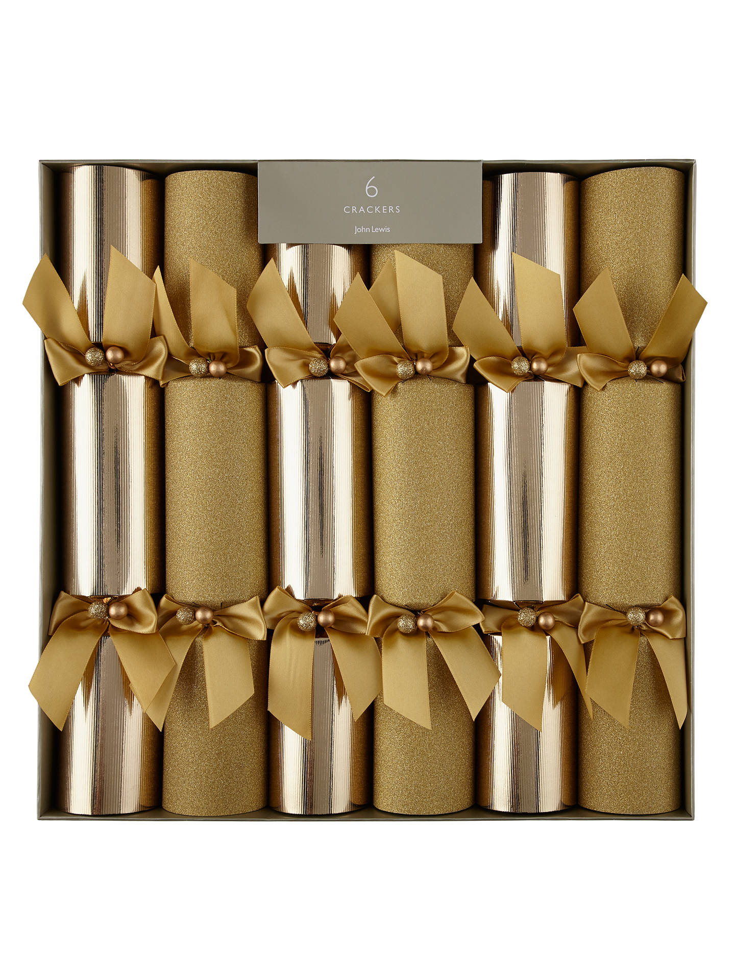 buyjohn lewis partners gold luxury christmas crackers pack of 6 online at johnlewis