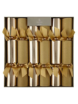 john lewis partners gold luxury christmas crackers