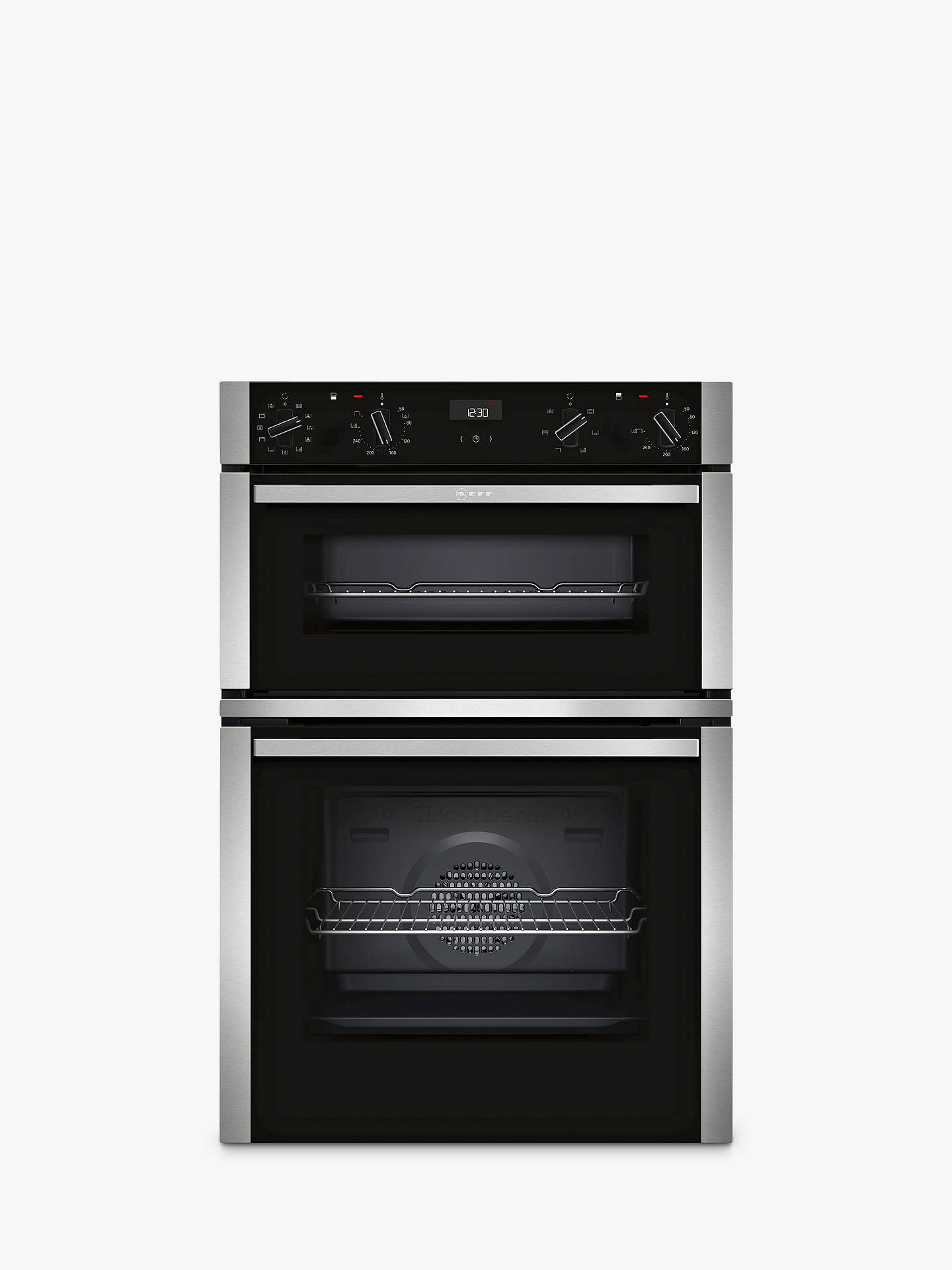 neff u1ace5hn0b built in double oven stainless steel at. Black Bedroom Furniture Sets. Home Design Ideas