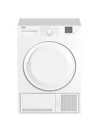 Beko DTGC9300W Freestanding Condenser Tumble Dryer, 9kg Load, B Energy Rating, White
